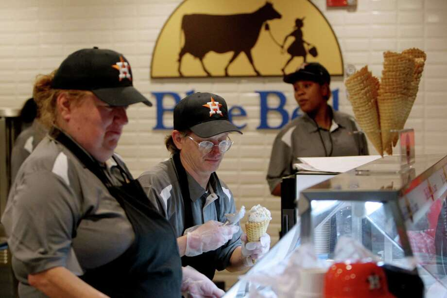Concession workers won't be able to serve Blue Bell ice cream at Minute Maid Park when the Astros return. Photo: Gary Coronado, Staff / © 2015 Houston Chronicle