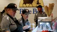 Concession workers won't be able to serve Blue Bell ice cream at Minute Maid Park when the Astros return.