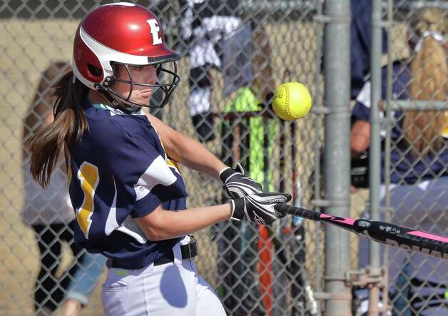 Averill Park's # 11 Torey Chenette at bat against Troy High in the Class A Softball Final with Saturday May 31, 2014, in Clifton Park, NY.  (John Carl D'Annibale / Times Union) Photo: John Carl D'Annibale / 00027103A