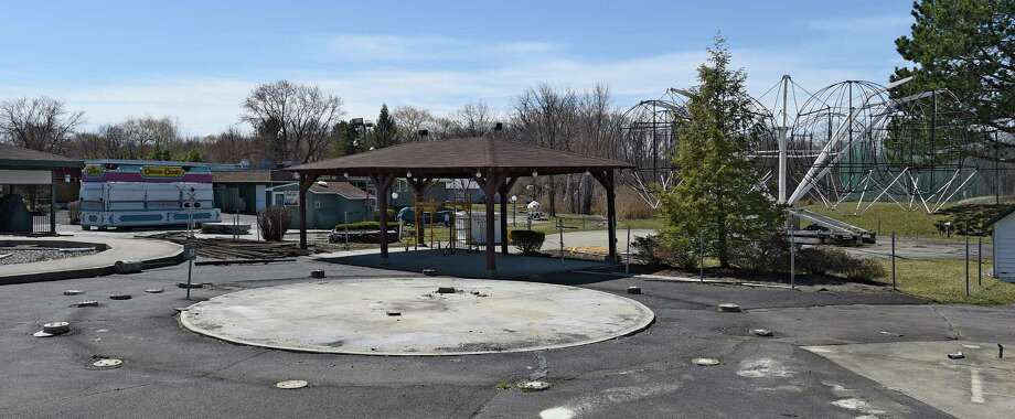 Remnants of the old Hoffman's Playland is still evident Thursday afternoon April 16, 2015 at the old site on Route 9 in Loudonville, N.Y.       (Skip Dickstein/Times Union) Photo: SKIP DICKSTEIN