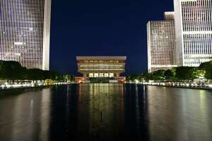 "Reader David Carroll of Albany submitted this photo to  timesunion.com . He said he wanted to ""show the beauty of Albany lit up at night"" when he snapped this shot of the Empire State Plaza at night."