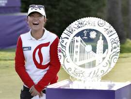Lydia Ko wins the championship at the 2015 Swinging Skirts LPGA  Classic golf tournament at Lake Merced Golf Course in Daly City, Calif., on Sun. April 26, 2015.