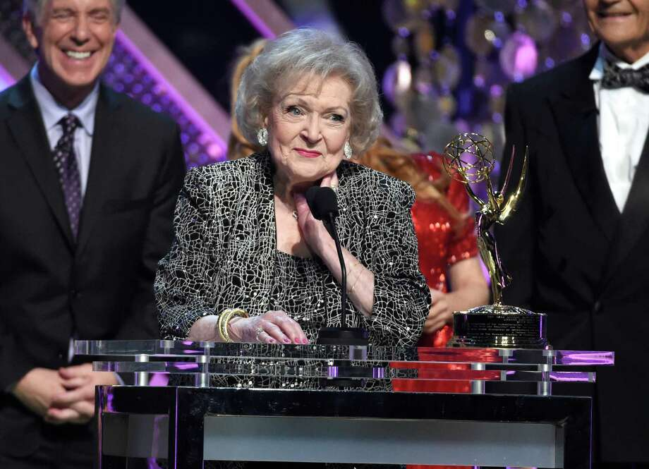 Betty White accepts the lifetime achievement award at the 42nd annual Daytime Emmy Awards at Warner Bros. Studios on Sunday, April 26, 2015, in Burbank, Calif. (Photo by Chris Pizzello/Invision/AP) Photo: Chris Pizzello, INVL / Invision