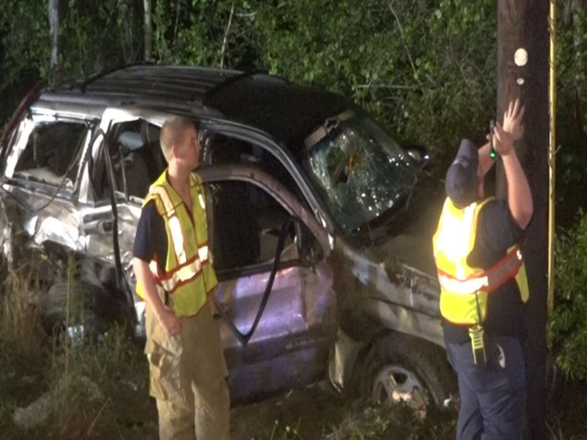 A head-on crash on FM 3083 left one dead and seven injured April 26, 2015 in Montgomery County.