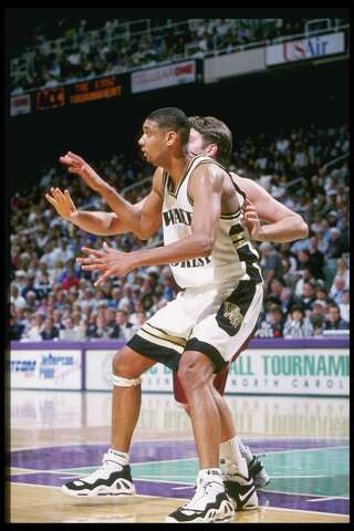 f22cdaee49e ... look back at Tim Duncan s career in shoes. Photo  Getty Images. In 1997  while at Wake Forest