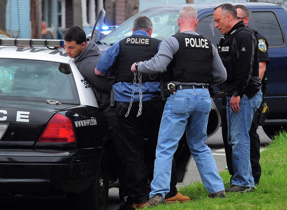 Treizy Lopez, who police say is a suspect in the Apr. 11 fatal shooting of store owner Jose Salgado, was arrested arrested Monday April 27 by West Haven police and the U.S. Marshall Service. Photo: Christian Abraham / Connecticut Post