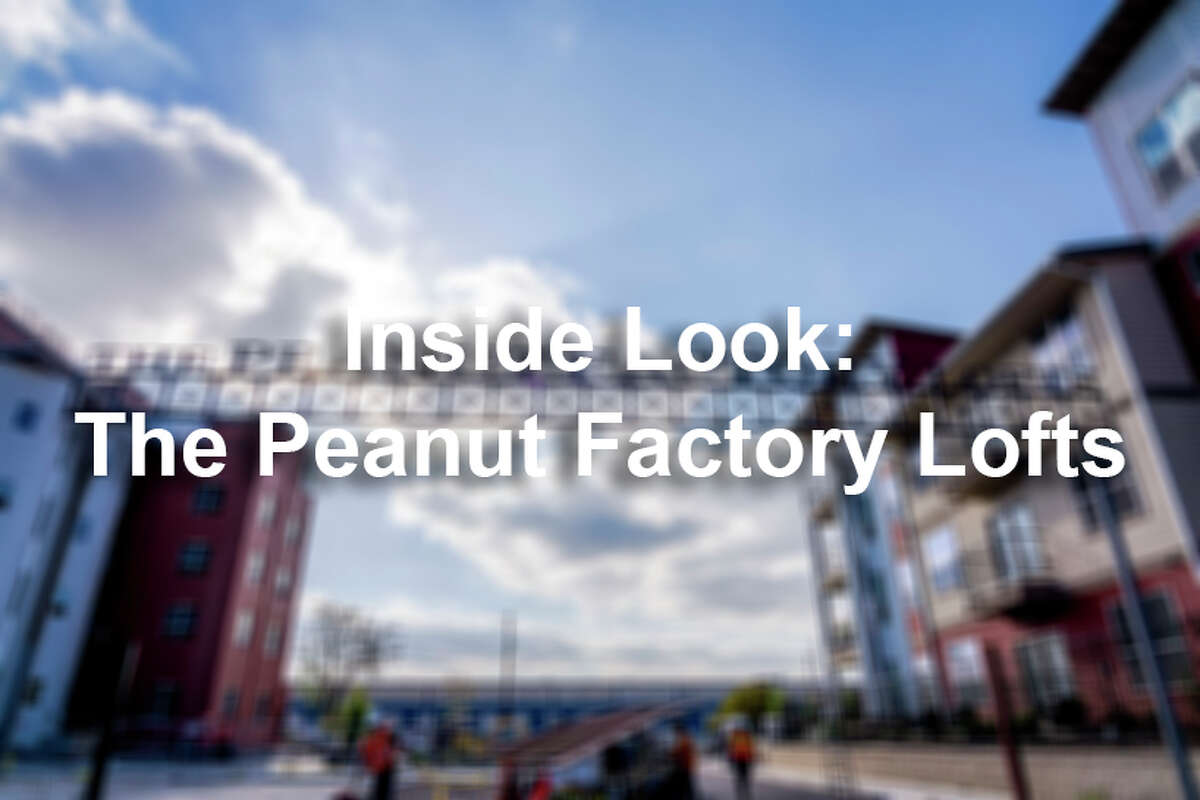 The original Peanut Factory, located at 939 S. Frio St., has been converted into 25 loft-style apartment units that will make up the four silos and the connecting tower.
