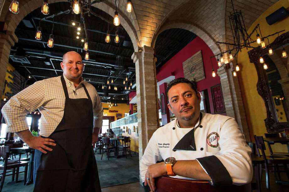 Brady Bussey, left, and Ulises Gonzalez, co-owners of Ula's Mexican Restaurant & Cantina pose for a portrait on Friday, April 24, 2015, in Houston. ( Brett Coomer / Houston Chronicle ) Photo: Brett Coomer, Staff / © 2015 Houston Chronicle