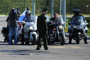 Poland blocks Russian bikers traveling to Berlin to mark WWII end - Photo