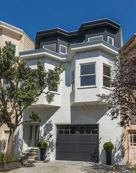 The Noe Valley home retains Edwardian finishes like bay windows.