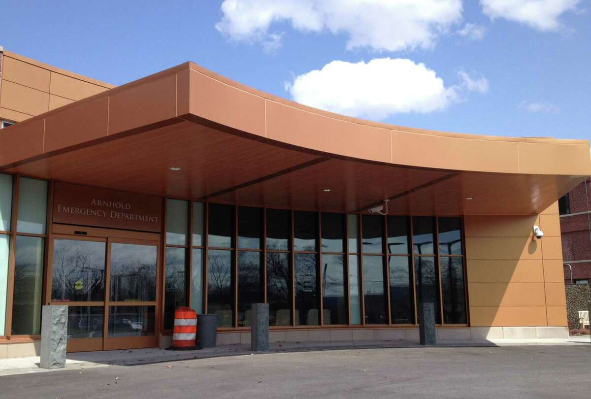 The Arnhold Emergency Department, facing west along Treadwell Avenue, will begin operation May 13 at New Milford Hospital. April 2015