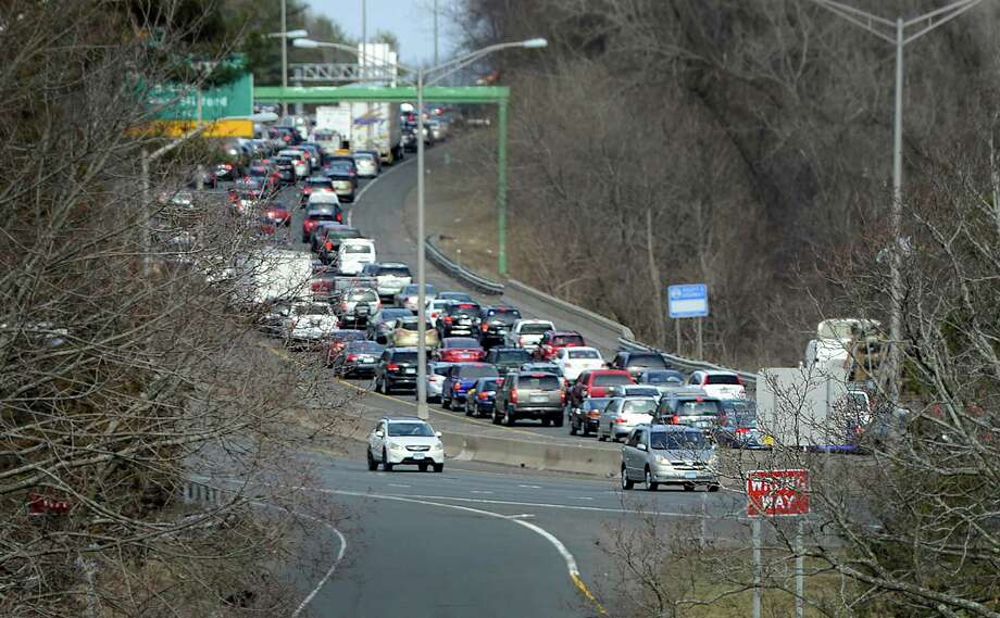 Traffic is backed up on I-84 in Danbury in this file photo. Photo: Carol Kaliff / The News-Times