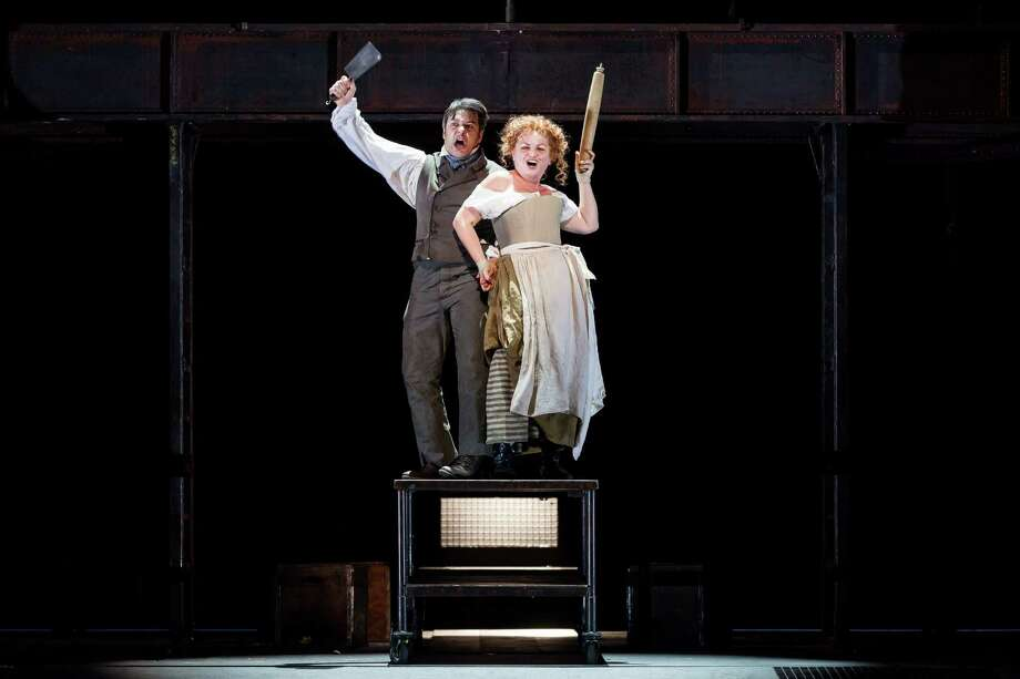 "Nathan Gunn and Susan Bullock star in Stephen Sondheim's ""Sweeney Todd"" at Houston Grand Opera. Photo: Lynn Lane / ONLINE_YES"