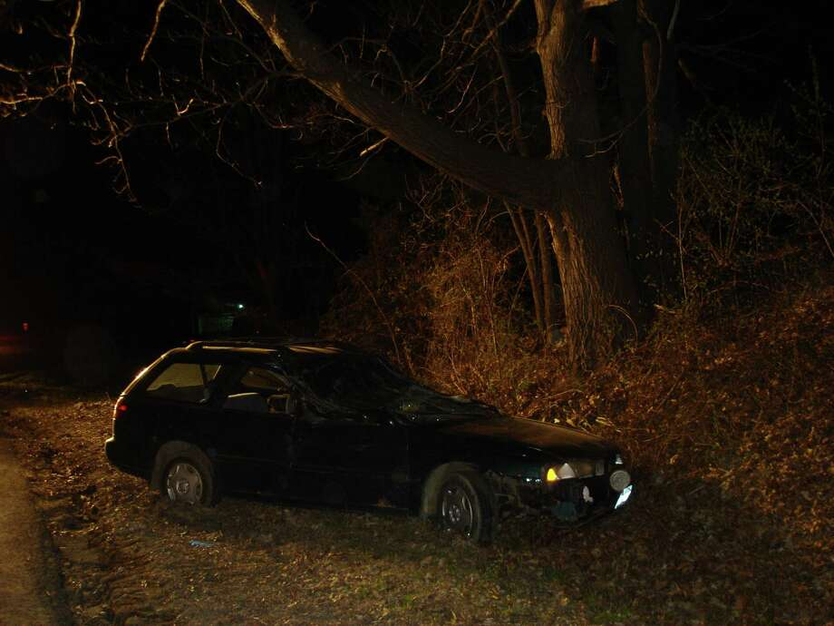 A Hillsdale man was injured Sunday, April 26, 2015 after his vehicle crashed on Pleasantvale Road in Livingston, Columbia County. Photo: Submitted.