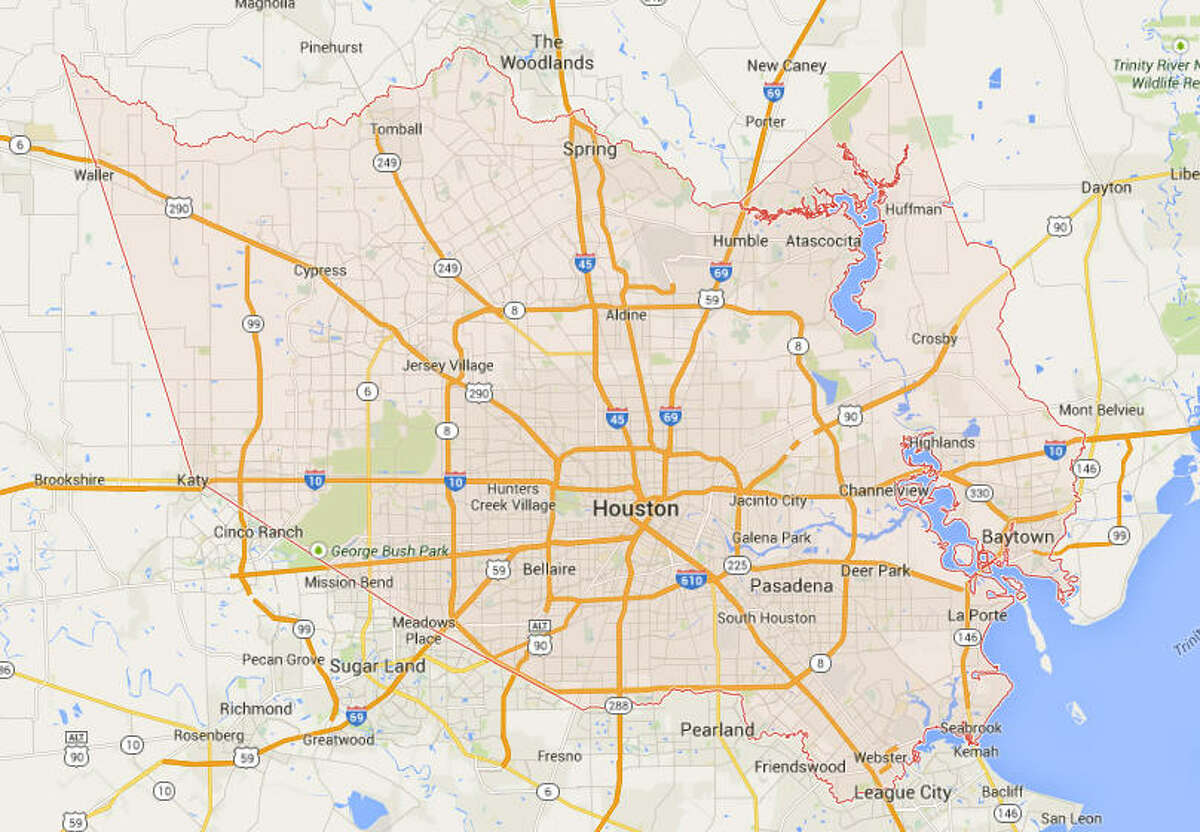 The highest insurance rates in Texas (>4 percent of state average) Harris County County seat: Houston 11 percent more than state average.