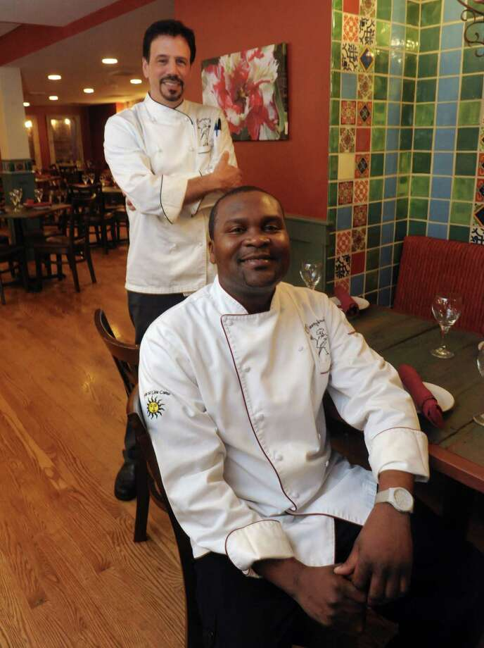 Owner/chef Carmine Sprio and chef Loubert Legros at Carmine's Restaurant at 4 Sheridan Ave on Tuesday May 21, 2013 in Albany, N.Y. (Michael P. Farrell/Times Union) Photo: Michael P. Farrell / 00022494A
