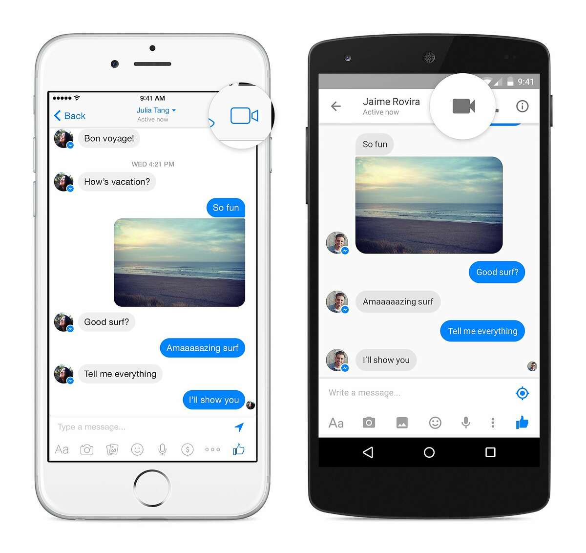 Facebook looks like it's sniping for Skype. The Menlo Park company announced that you can now do video calling from within its Messenger app, which might well cut into Skype's popularity.