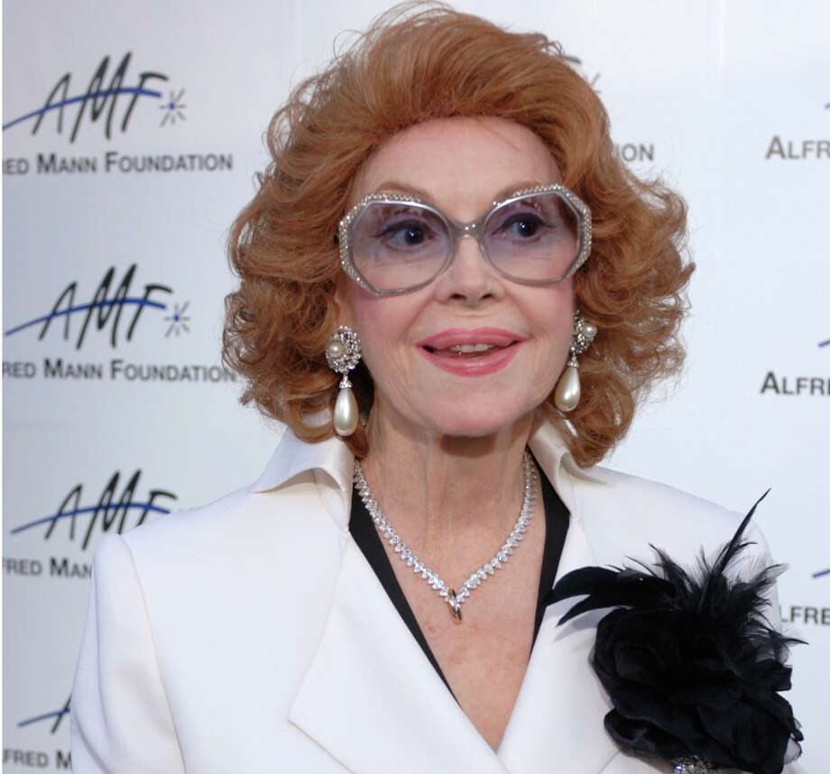 FILE - In this Sept. 9, 2006 file photo, actress Jayne Meadows arrives for the 3rd annual Alfred Mann Foundation Innovation and Inspiration Gala held in Beverly Hills, Calif. The actress and TV personality, Meadows, who often teamed with her husband Steve Allen, has died at age 95. Meadows' son, Bill Allen, said she died Sunday, April 26, 2015, in her home in the Encino area of Los Angeles. (AP Photo/Phil McCarten, File) Photo: Phil McCarten, STR / AP