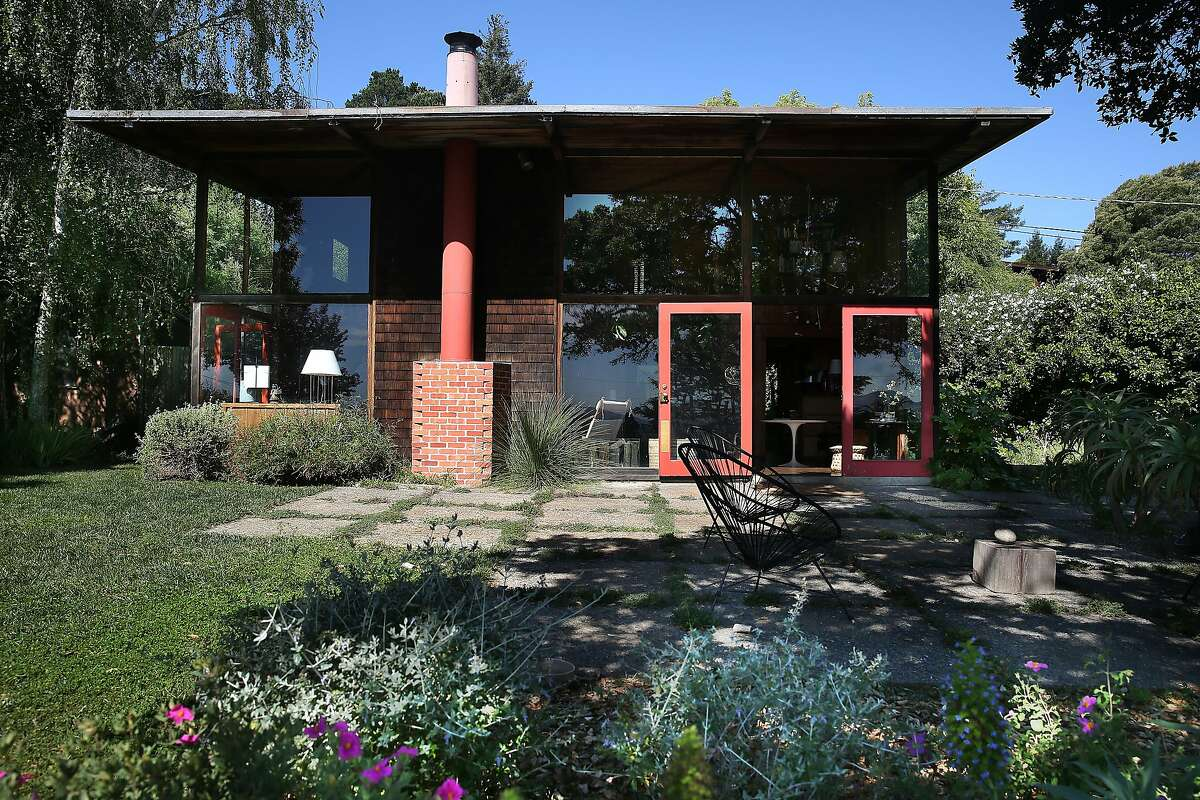 A view of the front of the Emmons house seen in Mill Valley, California, on Monday, April 27, 2015.