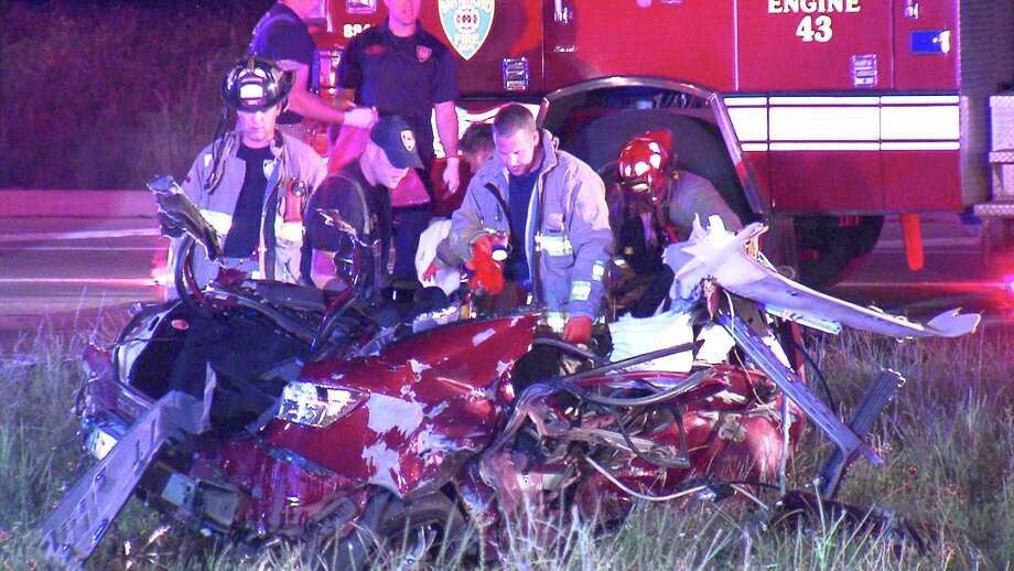 Two men died in a head-on collision Monday night on the North Side. Photo: 21 Pro Video