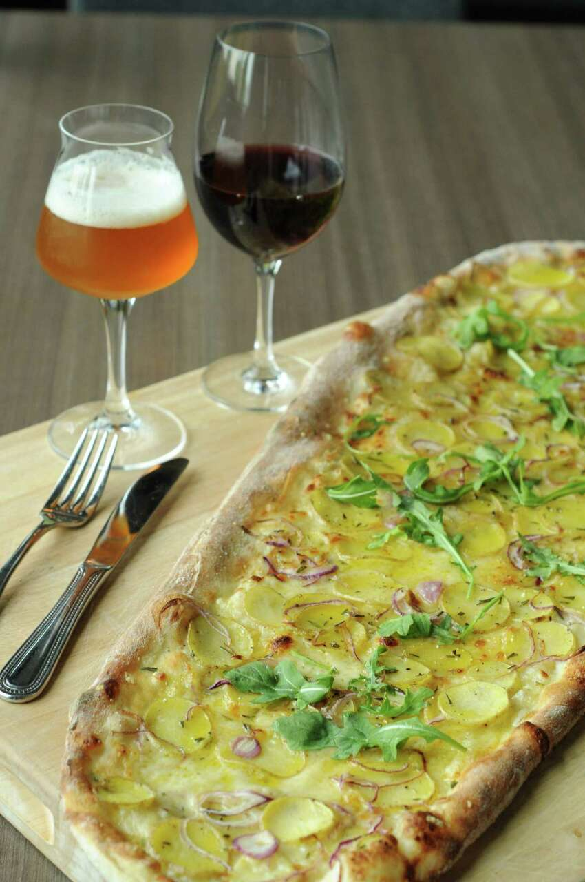 The potato pizza at Weights & Measures.