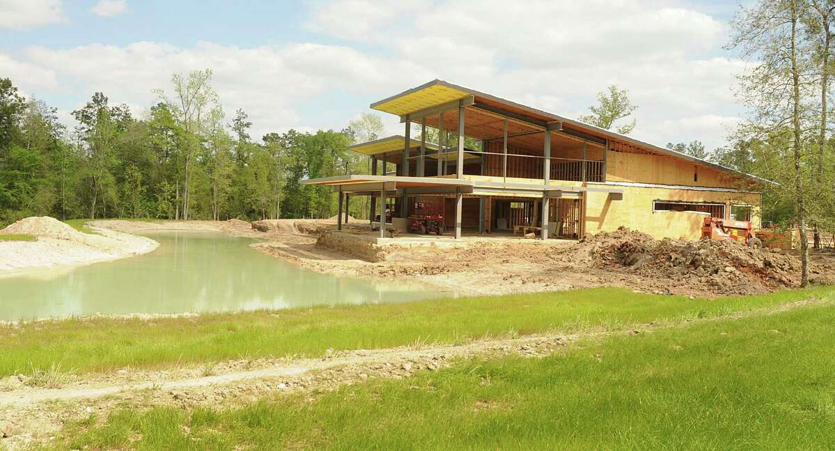 Construction is ongoing at the Community Center in the Woodson's Reserve development, off Riley Fuzzel Road in south Montgomery County. Woodson's Reserve is a 692-acre development. Photograph by David Hopper
