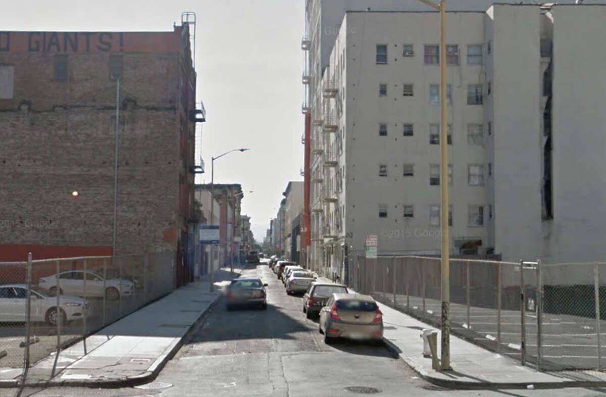 A man was stabbed to death on Minna Street after an argument about a bicycle.