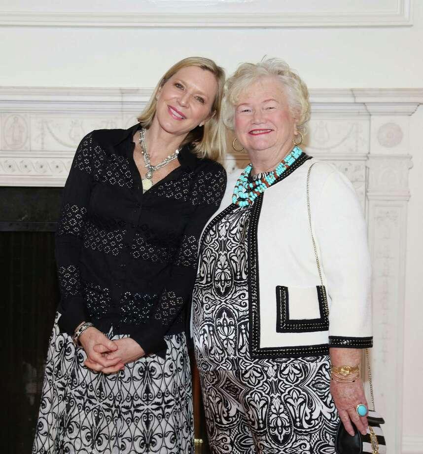 Author Lee Woodruff, left, and auction chair Carole McGarry Photo: Jon Shapley, Staff / © 2015 Houston Chronicle