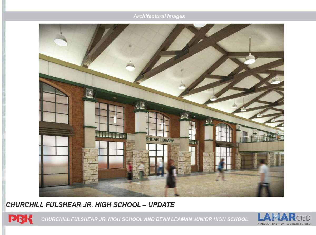 Here's an interior rendering of Churchill Fulshear R. High School, which is set to open in 2016 to relieve Foster High School.