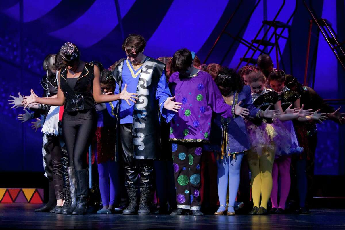 """Houston Christian's """"Pippin,é set in a giant circus environment, nabbed two trophies, for best costumes and best crew & technical execution."""