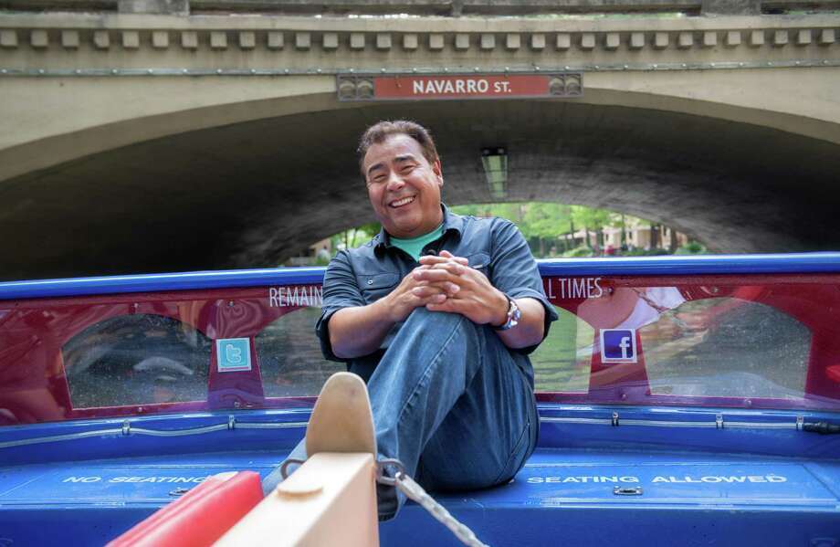 """John Quiñones, host of ABC-TV's """"What Would You Do?"""" relaxes during a break in filming. He and his crew shot four segments in  San Antonio, his hometown, for the show. Photo: ABC / 2015 Michaela Dowd"""