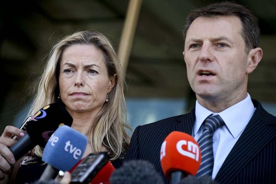 Kate and Gerry McCann, parents of Madeleine McCann, talk to the press at a courhouse in Lisbon last year. Photo: Patricia De Melo Moreira, AFP / Getty Images