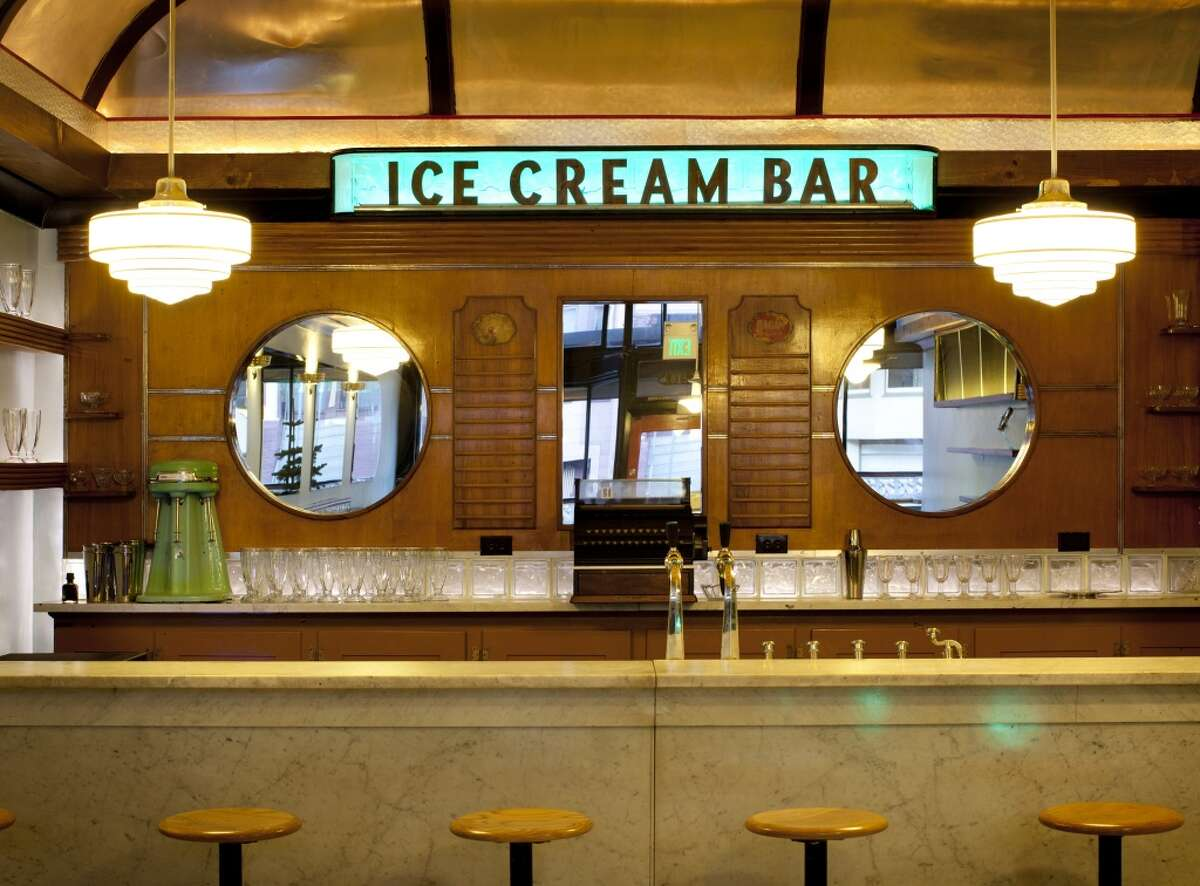 Interior shot of the Ice Cream Bar in Cole Valley.