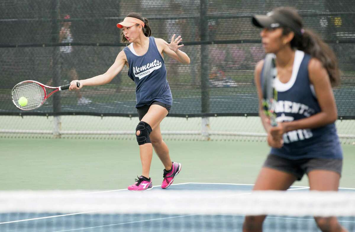 Clements' Rosanne Hu, left, and partner Nila Ramaswamy will join Rangers' duo Nikita Pradeep and Sanjna Tripathy at the UIL Class 6A State Meet at Texas A&M.