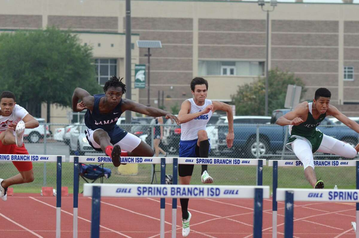 Holton Hill, left, is Lamar's best bet to move on to state on the boys side of the ledger. At the area meet, Hill, a UT football signee, was a champion in two events, winning the 110-meter hurdles in a time of 14.08 seconds and soared 23 feet, 5 inches to claim the long jump.