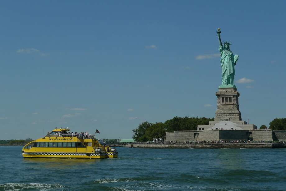 The New York Water Taxi runs ferry routes on the East and Hudson rivers, including an all-day pass that allows riders to hop on or off at any stop. Photo: Spud Hilton