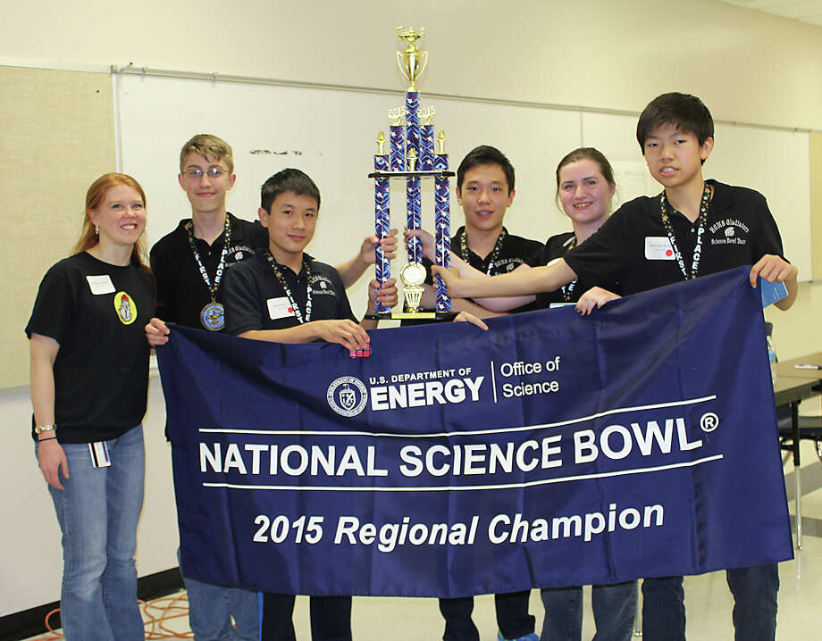 Coach Shelley Beck (from left) will lead Garcia Red team members Mathew Wilson, Matthew Su, Brian Kang, Margaret Godfrey and Richard Feng in the U.S. Energy Department's National Science Bowl, set for Friday through Monday. Photo: Courtesy Photo