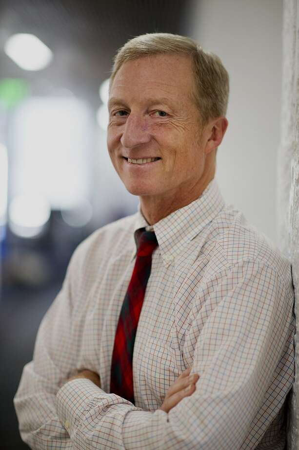 Tom Steyer hopes  to block Canada oil from the state. Photo: David Paul Morris, Bloomberg