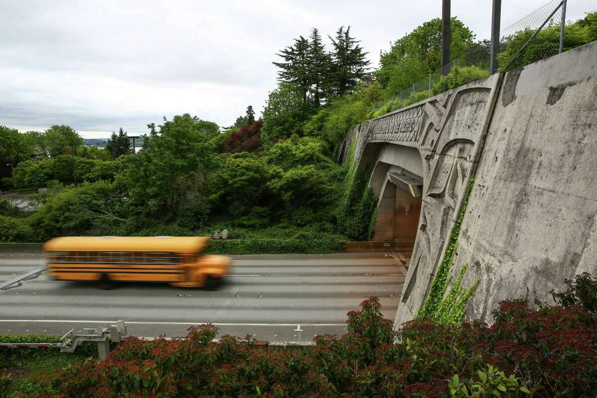 The Mount Baker Tunnel is shown on Tuesday, April 28, 2015. Lanes of Interstate 90 will be closed over the weekend, one of 26 expected weekend closures through 2017, as systems are upgraded inside the tunnel. The closure is expected to cause significant impacts on traffic. In 2017 Sound Transit contractors will convert what are now the express lanes into light rail between Seattle and Bellevue.