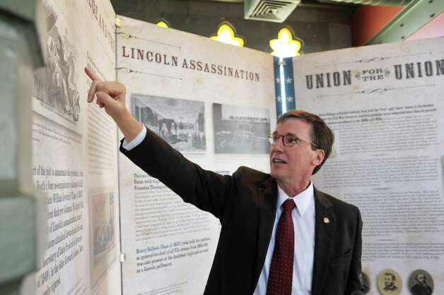 Stephen Ainlay, president of Union College, talks about the exhibit entitled Profound & Poignant: Union College Connections to the Civil War Era which is on display inside the Nott Memorial on Tuesday, April 28, 2015, at Union College in Schenectady, N.Y.  (Paul Buckowski / Times Union) Photo: PAUL BUCKOWSKI / 00031597A