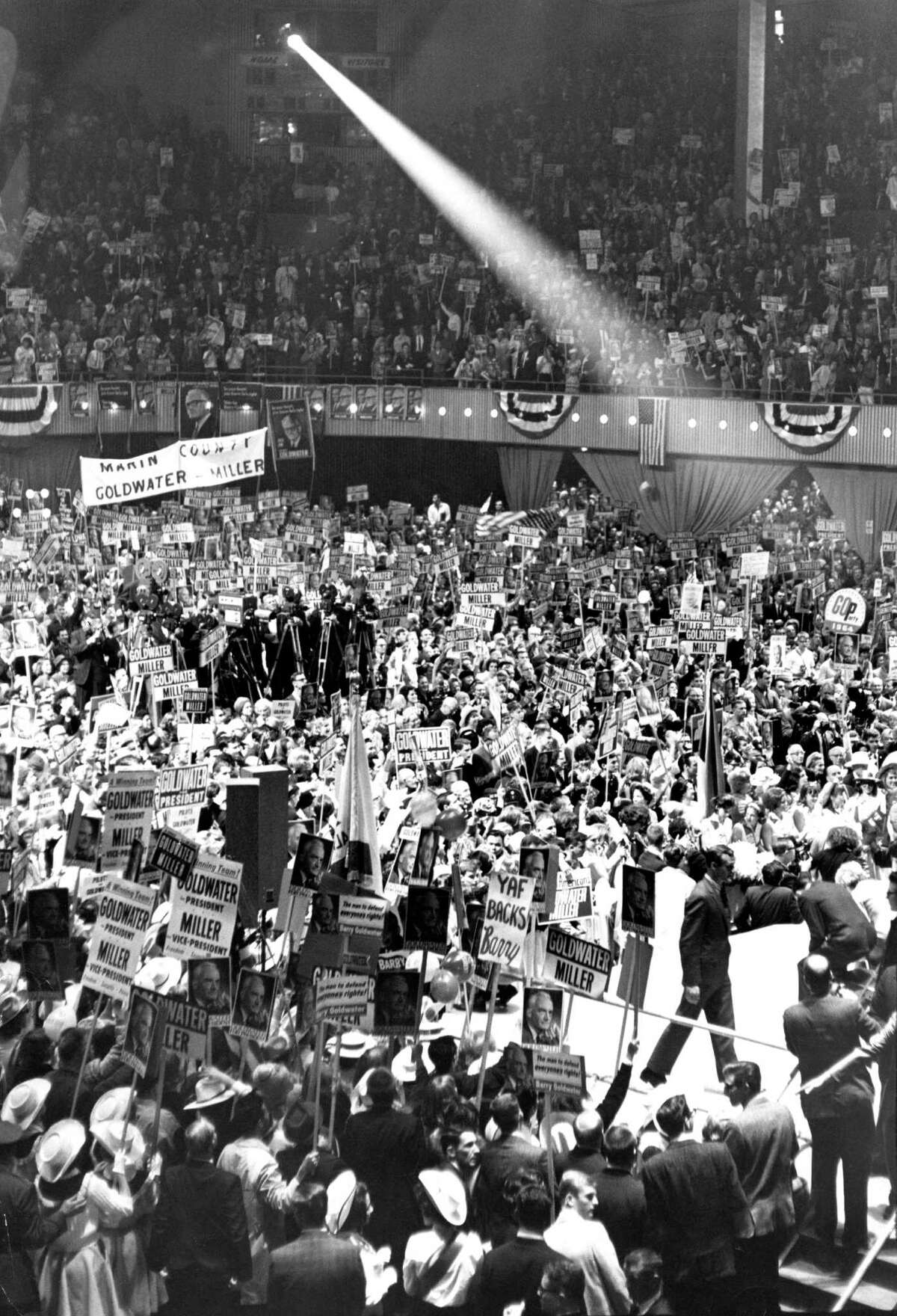 Delegates inside the Cow Palace at the 1964 Republican Convention.