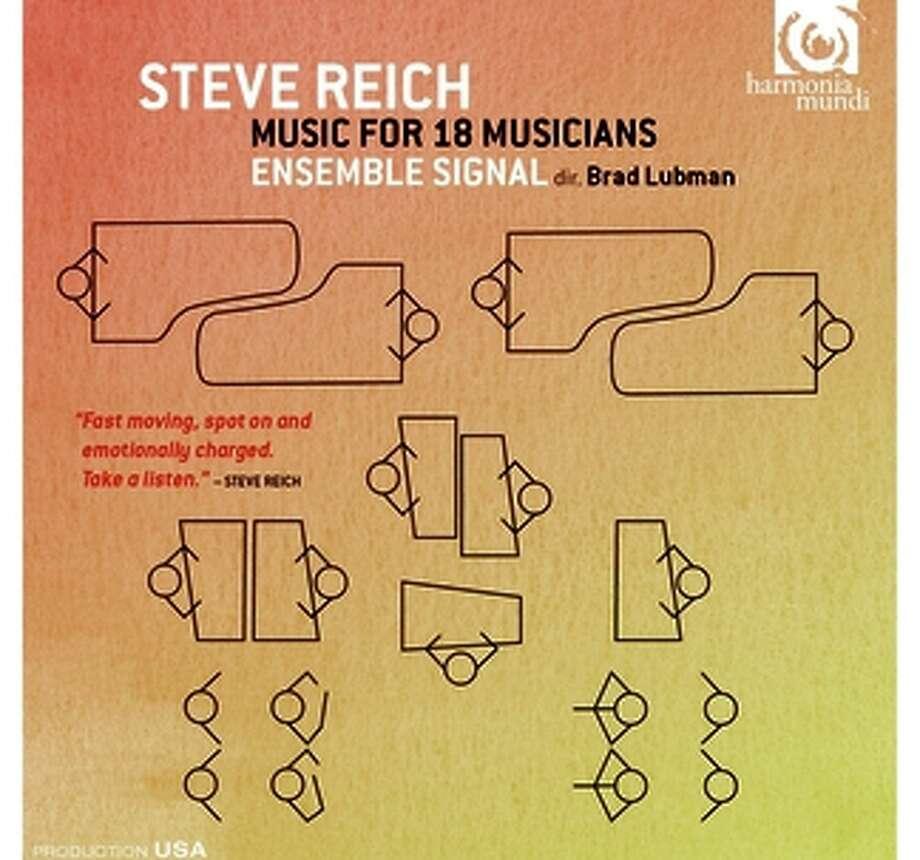 "CD cover: Steve Reich, ""Music for 18 Musicians"" Photo: Harmonia Mundi / ONLINE_YES"