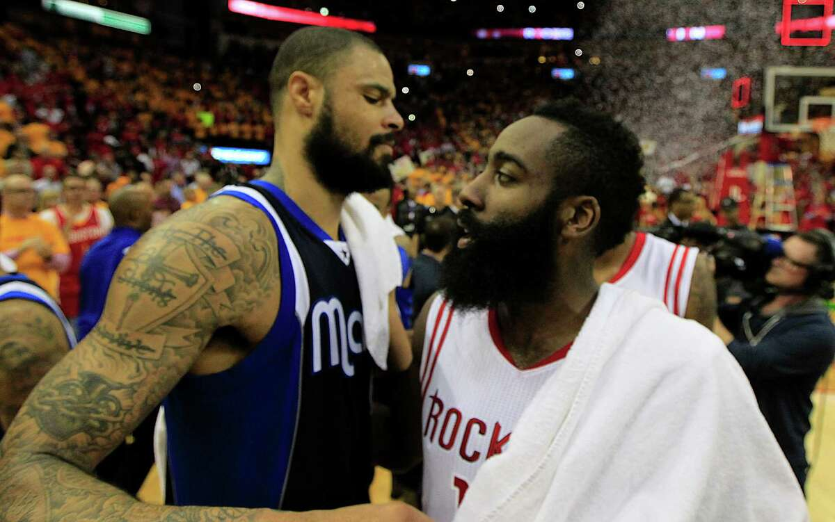 Tyson Chandler and James Harden squared off in the 2015 playoffs when Chandler was the Mavericks. Now with the Rockets, Chandler remembers when he first knew Harden would be a start.