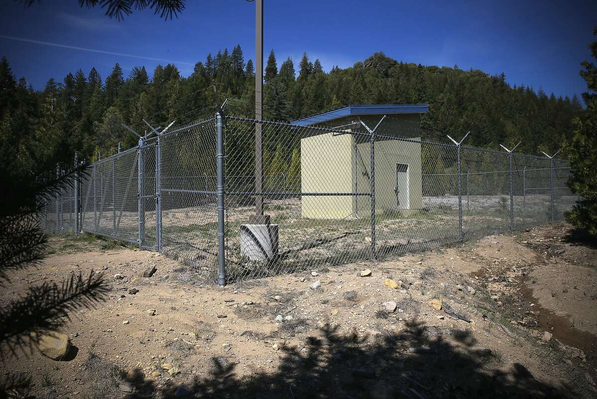 The DEX6 well owned by Crystal Geyer as seen below Spring Hill in Mount Shasta, Calif., on Tues. April 28, 2015, where Crystal Geyser will draw water from. They are opening a bottling plant nearby without any environmental review or limits at a time when everyone else in the state is being asked to drastically cut water use. California's non-existent laws on groundwater use allow this.