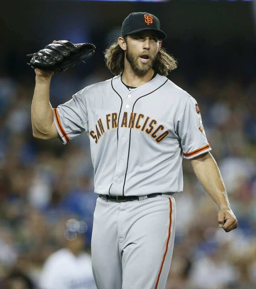 Giants starting pitcher Madison Bumgarner had season highs of eight innings and nine strikeouts in defeating the Dodgers. Photo: Danny Moloshok, Associated Press
