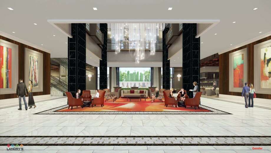 The Post Oak lobby rendering. Photo: Landry's Inc._Gensler