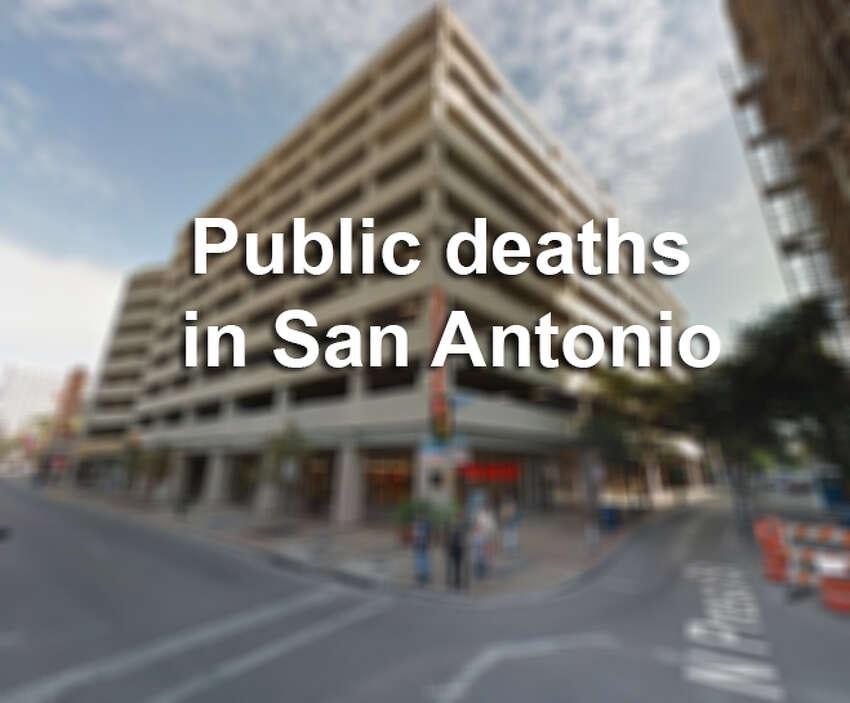 Public deaths in San Antonio
