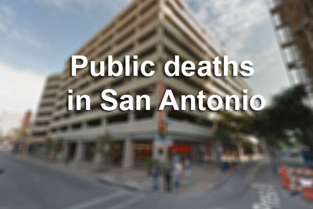 Public deaths in San Antonio