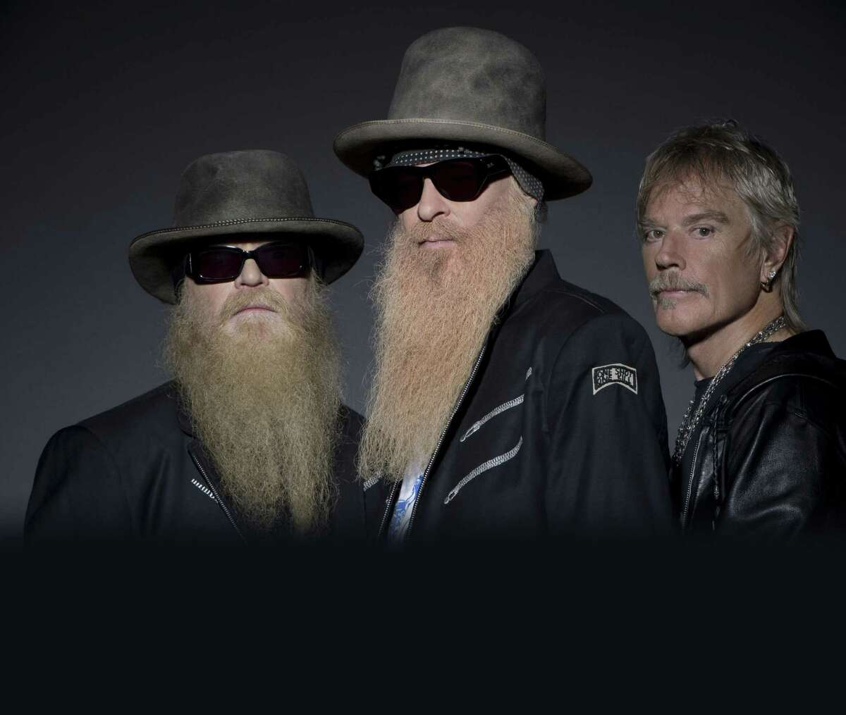 ZZ Top, whose members include Billy Gibbons, from left, Dusty Hill and Frank Beard, will perform the blues Saturday in The Woodlands.