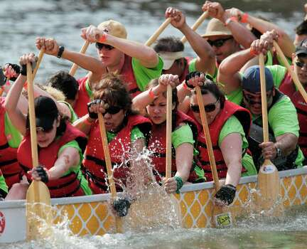 Houston Dragon Boat FestivalSaturday, May 2Now in its 15th year, this event will take place on Buffalo Bayou at the Texas Dragon Boat Association's Boat House. In addition to the boat races, the day will include cultural performances and children's activities.When: 8:30 a.m.-4:30 p.m. Where: 901 N. YorkInformation: houstondragonboat.com Photo: Mayra Beltran, Staff / Â 2012 Houston Chronicle